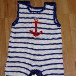 Bebek için Örgü Denizci Takımı Yapımı