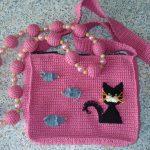 Örgüden Kedili Çanta Yapımı