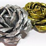 Alüminyum Folyo ile Dekoratif Gül Yapımı
