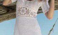 Kısa Kollu Örgü Elbise Modelleri