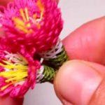 3 Boyutlu Kasımpatı Çiçeği İğne Oyası Yapımı - Videolu Anlatım