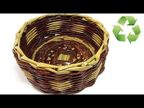 Gazete Kağıtları Kullanarak Örgü Sepet Yapımı - Videolu Anlatım