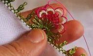 Kraliçe Çiçek Modeli İğne Oyası Yapımı – Videolu Anlatım