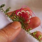 Kraliçe Çiçek Modeli İğne Oyası Yapımı - Videolu Anlatım