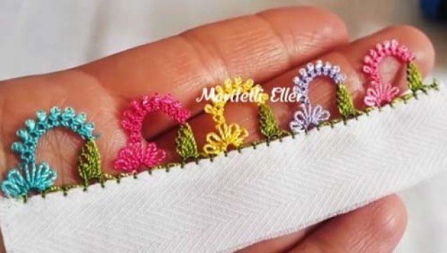 Taç Çiçek İğne Oyası Modeli Yapımı – Videolu Anlatım