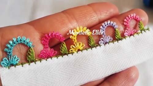 2019 Kelebek Çiçeği İğne Oyası Modeli Yapılışı Anlatımlı Videolu