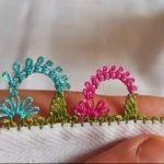 Taç Çiçek İğne Oyası Modeli Yapımı