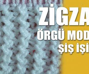 Zigzag Motifi Yapımı – Videolu Anlatım