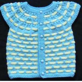 1-2 Yaş Bebek İçin Yakadan Başlamalı Tuğla Modeli Yelek Yapımı