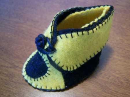 Keçeden Bebek Patiği Yapımı - Resimli Anlatım