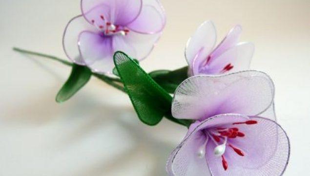 Tel ve Tül Malzemeden Çiçek Yapımı – Resimli Anlatım