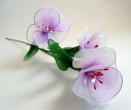 Tel ve Tül Malzemeden Çiçek Yapımı - Resimli Anlatım