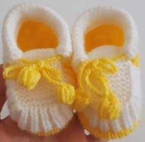 Çok Tatlı Bağcıklı Bebek Ayakkabı Patik Yapılışı