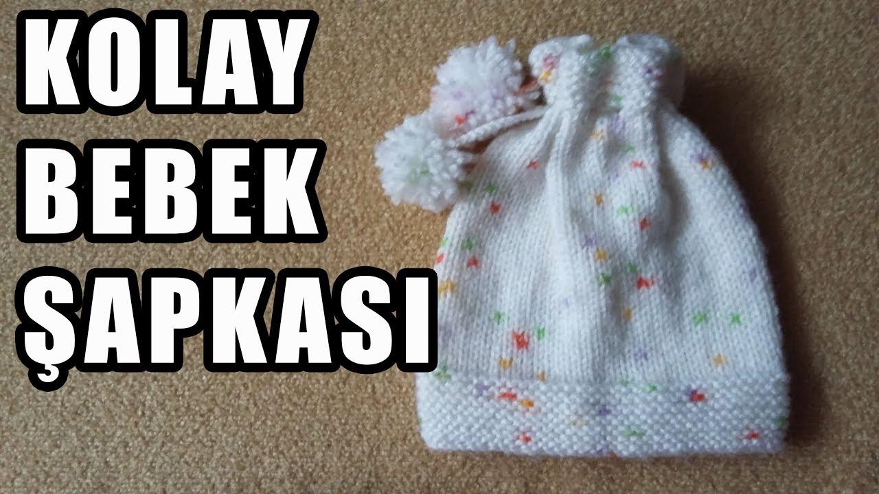 Bebek Şapkası Örgü Modelleri Yapılışı