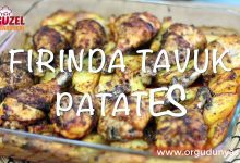 Fırında Kolay Tavuk Etli Patates Tarifi