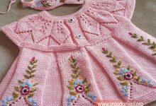 Photo of Yaprak Robalı Elbise Örgü Modeli Yapılışı
